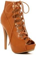 Elegant Footwear Dania Lace-Up Platform Bootie