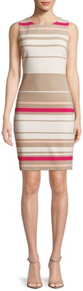 Calvin Klein Ottoman Stripe Sheath Dress