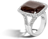 John Hardy Magic Cut Ring with Green Amethyst and Diamonds