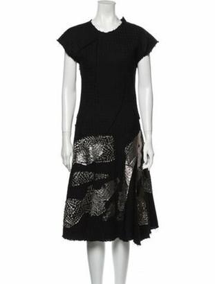 Bottega Veneta Wool Midi Length Dress Wool