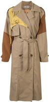 Preen by Thornton Bregazzi colour block trench coat