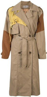 Preen by Thornton Bregazzi Colour Block Trench Coat
