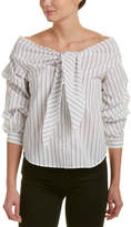 Flying Tomato A. Calin Self-Tie Top