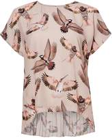 Twist And Tango Mandy Bird Print Blouse With Pleating