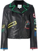 Mira Mikati scribble print biker jacket