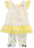 Nannette 2-Pc. Lace Tunic and Capri Leggings Set, Baby Girls (0-24 months)