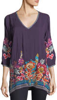 Johnny Was Araxi Floral-Embroidered Tunic