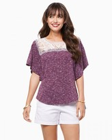 Charming charlie A Touch of Lace Tee