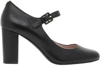 Basque Sandrine Black Leather Heel