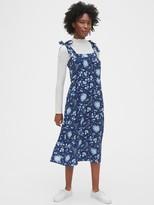 Gap Tie-Shoulder Midi Apron Dress