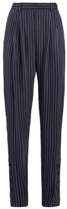 Altuzarra Lidig High-rise Pinstriped Twill Trousers - Navy Stripe