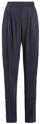 Altuzarra Lidig High-rise Pinstriped Twill Trousers - Womens - Navy Stripe