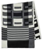 Topman Black And White Text Block Scarf