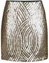 Tall psych sequin swirl mini skirt