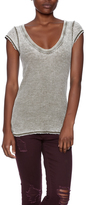 Free People Cap Sleeve Thermal Tee