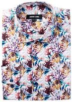 Jared Lang Long Sleeve Tropical Fern Dress Shirt