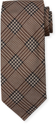 Tom Ford Men's Houndstooth Plaid Cotton Tie