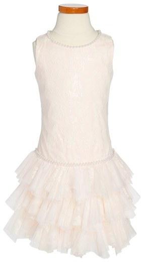 Biscotti Lace Drop Waist Dress (Little Girls & Big Girls)