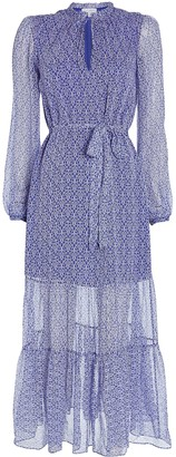 Intermix Priscilla Floral Silk Midi Dress