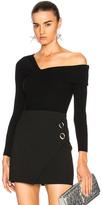 Michelle Mason Asymmetrical Band Sweater in Black.