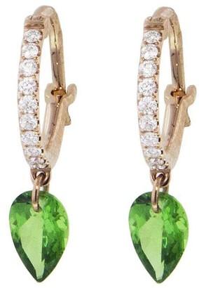 Raphaele Canot Set Free Mini Tsavorite Hoop Earrings