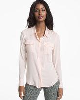 White House Black Market Soft Button-Up Shirt