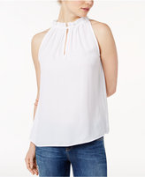 Kensie Luxury High-Neck Crepe Top