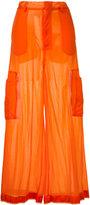 G.V.G.V. Sheer jersey cargo trousers - women - Nylon - 34