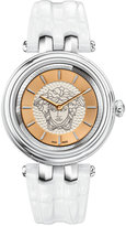 Versace Women's Swiss Khai White Leather Strap Watch 38mm VQE010015