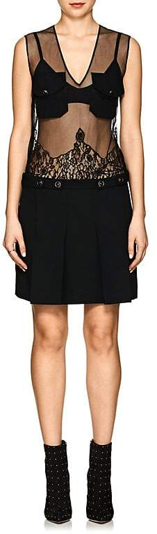 Givenchy Women's Lace-Embellished Tulle & Wool Dress