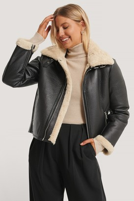 NA-KD Short Aviator PU Jacket