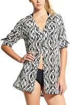 Athleta Printed Kaftan Shirt