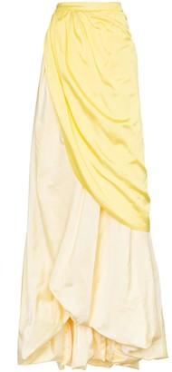 Rosie Assoulin tie waist long silk skirt