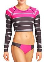 Athleta Colorblock Stripe Crop Rashguard
