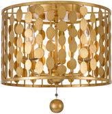 Crystorama Layla 3-Light Ceiling Mount, Gold