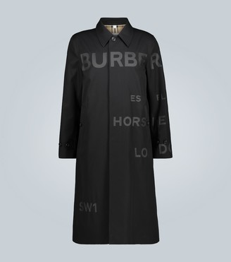 Burberry Contrast Horseferry logo car coat