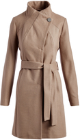 T Tahari Coco Isabelle Wool-Blend Trench Coat