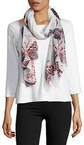 Lord & Taylor Butterfly Printed Scarf