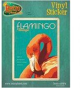 Retro Planet Flamingo Lounge Vinyl Sticker