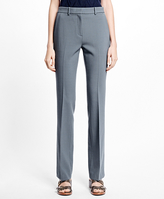 Brooks Brothers Petite Flat-Front Stretch Trousers