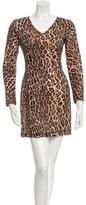 Dolce & Gabbana Long Sleeve Printed Dress