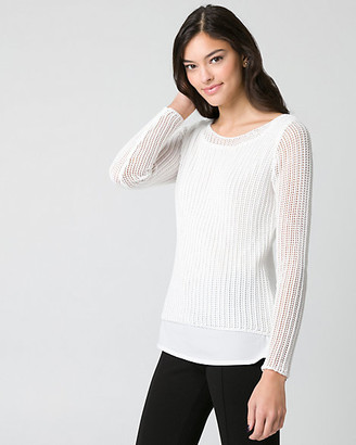 Le Château Textured Knit Boat Neck Sweater
