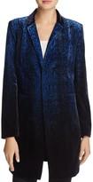 T Tahari Dickson Snake Print Velvet Jacket