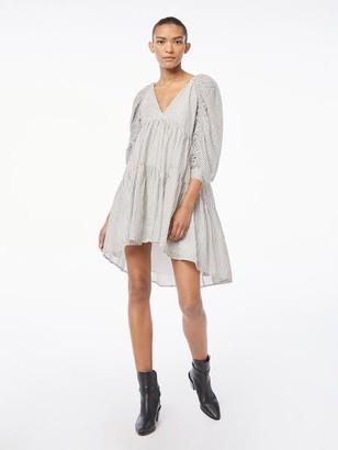Frame Shirred Empire Dress