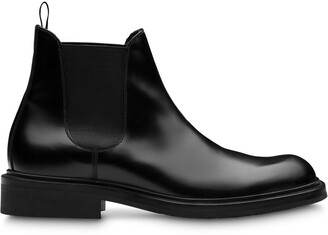 Prada Brushed Leather Booties