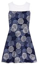 Aqua Girls' Illusion Neckline Dress - Big Kid