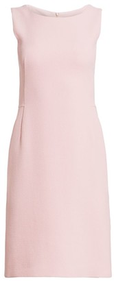 Akris Wool Crepe Double Face Sheath Dress