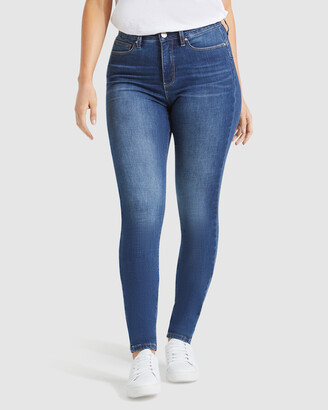 Jeanswest Women's Blue Skinny - Curve Butt Lifter Skinny Jeans Mid Sapphire - Size One Size, 12 Regular at The Iconic