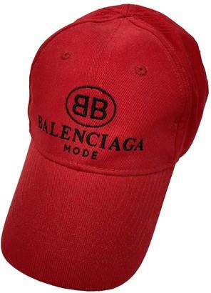 Balenciaga Red Cloth Hats & pull on hats