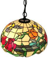 AMORA Amora Lighting AM227HL16 Tiffany style floral hanging pendant lamp 2 light